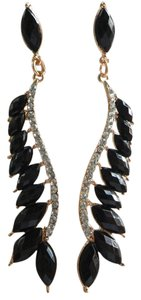Dramatic black vintage-style pierced earrings