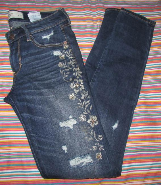 Abercrombie & Fitch Limited Edition Skinny Jeans-Medium Wash Image 1