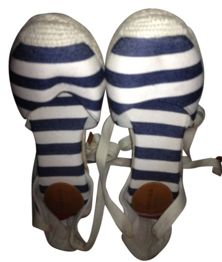 Sonoma Striped Espadrille Navy blue and white Wedges