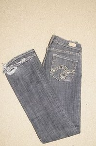 See Thru Soul Black Cotton Pocket Casual 27 23450 Boot Cut Jeans