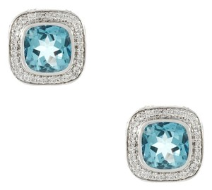 John Hardy Batu Sari Sky Blue Topaz & Diamond Stud Earrings