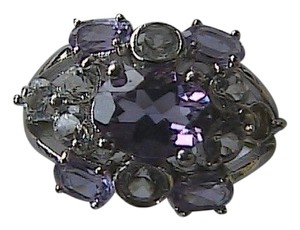 Unknown Sterling Silver Amethyst and White Topaz Ring