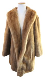 Glem Sanger Natural Mink Coat Vintage Fur Penny Lane Fur Coat