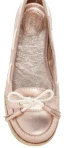 Sebago Boat Preppy Nautical Rose Gold Metallic Pink Flats