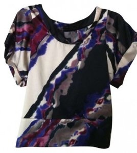 The Limited Modern Silky Top Purple, black, white