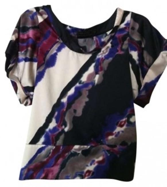 Preload https://item2.tradesy.com/images/the-limited-purple-black-white-modern-silky-blouse-size-0-xs-140891-0-0.jpg?width=400&height=650