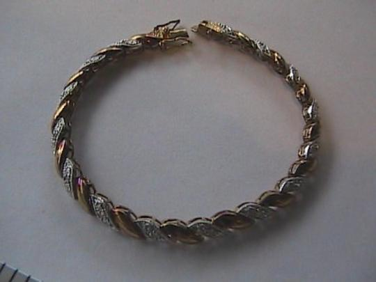Other Sterling Silver Gold Toned Tennis Bracelet