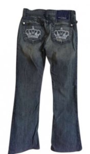 Rock & Republic Victoria Beckham Crowns & 25 Boot Cut Jeans-Distressed