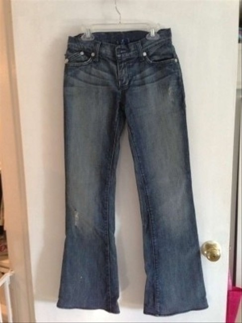 Rock & Republic Victoria Beckham Crowns Boot Cut Jeans-Distressed
