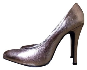 Steve Madden Ronnie Heels High Heels Metallic Leather Patent Distressed Women Ladies Girls Misses Hot Sexy Modern Cool Urban Trendy Silver Pumps