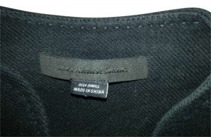 Alexander Wang Light Weight Sleeves Cotton/Linen Blend. Military/Bomber Style. BLACK Leather Jacket