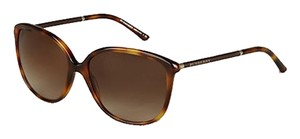 Burberry Leather Wrapped Cat-Eye Sunglasses