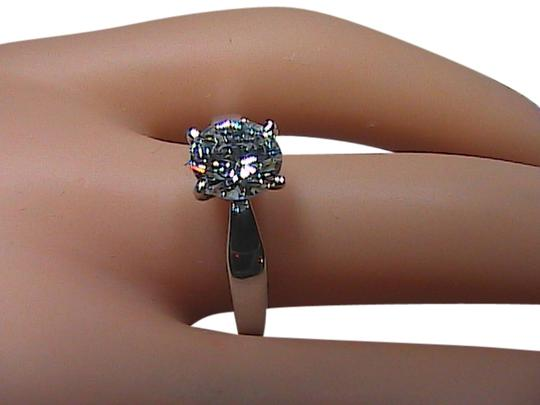 Other Round Brilliant Cut 925 Sterling Silver 1.80CT Solitaire Wedding Band Ring