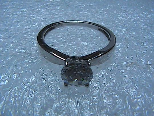 Other Round Brilliant Cut 925 Sterling Silver 1.80 CT Solitaire Band Ring