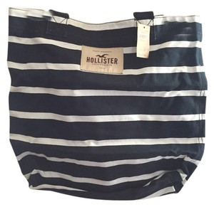 Hollister Tote in Navy And White