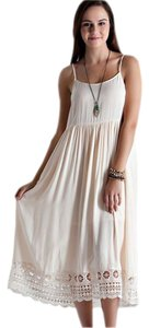 Cream Maxi Dress by entro White Long Maxi