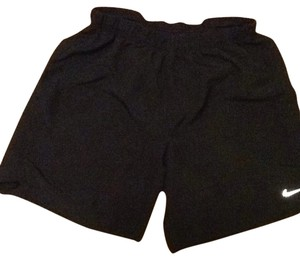 Nike Black, Sport Shorts, Hidden Back Pocket, Running