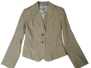 Banana Republic Linen Blend pale yellow Blazer