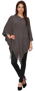 MOA USA Fringe Poncho Sweater Bohemian Top Grey