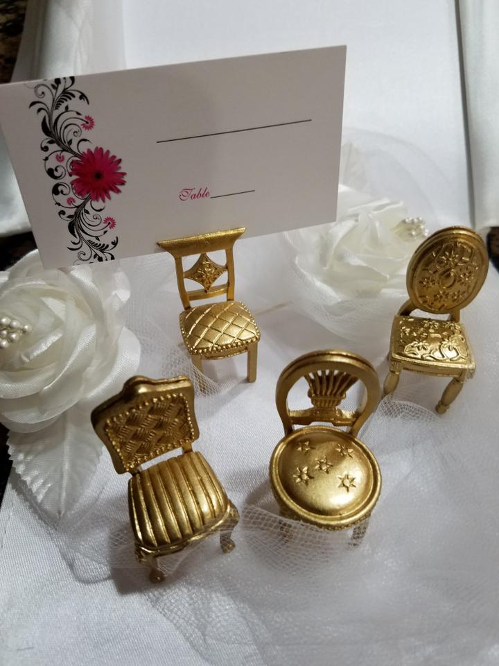 Gold Set Of 40 Vintage Chair Placecard Holders Wedding Favors Tradesy