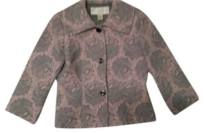 Doncaster Wool/silk pink and grey print Blazer