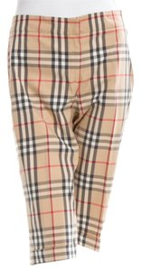 Burberry Nova Check Plaid Monogram Cotton Logo Bermuda Shorts Beige, Black
