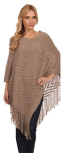 MOA USA Fringe Poncho Sweater