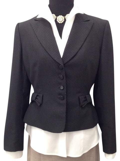 Tahari Black and Silver Blazer