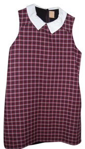 Zara Peter Pan Collar Checkered Dress