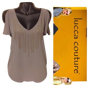 Lucca Couture Top Grey