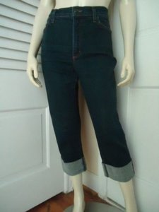 NYDJ Not Your Daughters Stretch Capri Faux Jeweled Cuffs Hot Capri/Cropped Denim