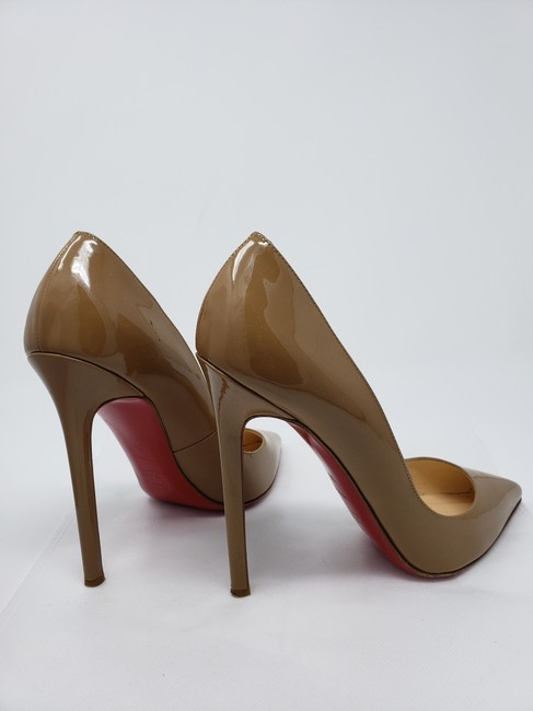 Christian Louboutin Nude Kabetts 100 Patent Leather
