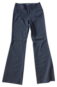 Banana Republic Pinstripe Pockets Trouser Midrise Polyester Boot Cut Pants Black