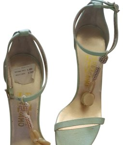 Salvatore Ferragamo Formal mint green. beige. mother of pearl Sandals