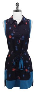 Jill Stuart short dress Black/Blue Silk on Tradesy