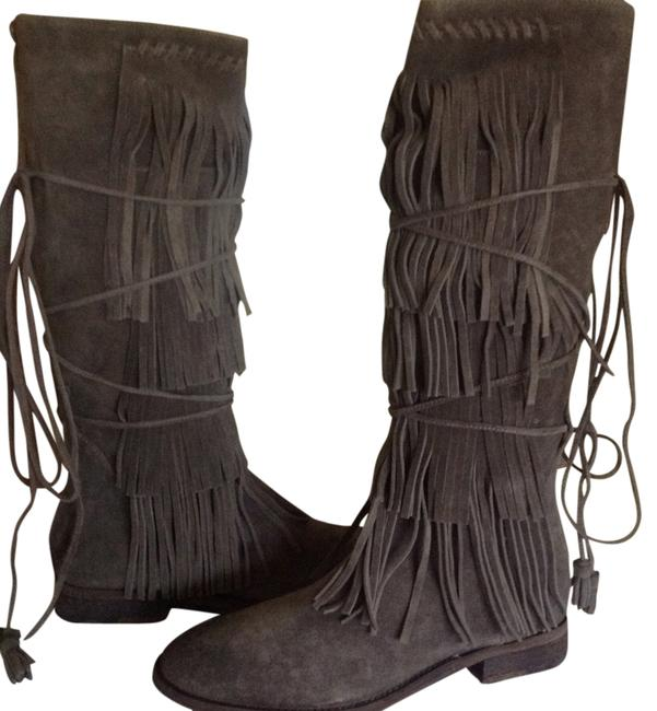 Free People Gray Songbird Boots/Booties Size US 9 Regular (M, B) Free People Gray Songbird Boots/Booties Size US 9 Regular (M, B) Image 1