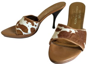 Donald J. Pliner Cowhide Western animal print Sandals