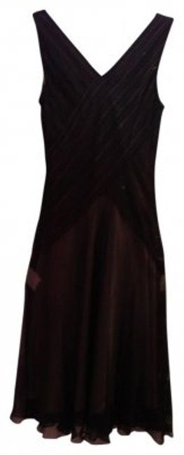 Preload https://item1.tradesy.com/images/talbots-blackbronzebrown-two-toned-chiffon-below-knee-full-mid-length-cocktail-dress-size-12-l-14095-0-0.jpg?width=400&height=650