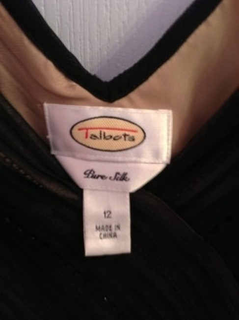 Talbots Two-toned Chiffon Below Knee Full Dress