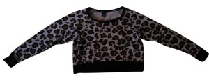 Wet Seal Leopard Print Top Black,Brown,Cream