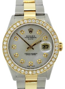 Rolex Men's Rolex Date Diamond Watch with Rolex Box & Appraisal