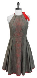 Eva Franco short dress Grey Halter on Tradesy