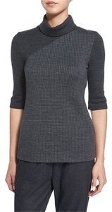 Theory Turtleneck Houndstooth Sweater