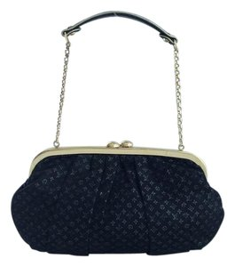 Louis Vuitton Evening Monogram Black Mini Lin Clutch