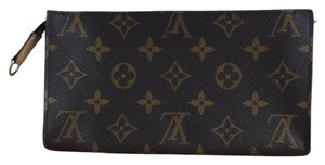 Louis Vuitton Makeup Case Makeup Pouch Accessories brown Clutch