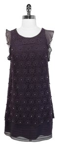 3.1 Phillip Lim short dress Plum Crochet Silk on Tradesy