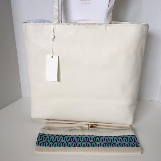 3a2fee93d0e Tory Burch Embellished-stitch (W Dustbag) Leather Tote - Tradesy