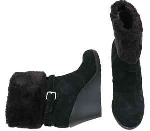 Bass Suede Wedges Black/Brown Boots