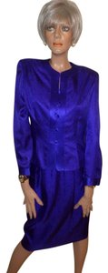 Adrianna Papell Purple Silk 2Pc Suit Set