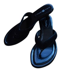 Lindsay Phillips Thong Black w/Multi Colored Straps Sandals